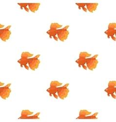 Gold fish icon cartoon singe aquarium fish icon vector