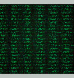 green matrix background with digits vector image