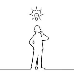 Man with lightbulb vector image
