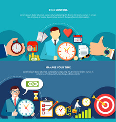manage your time banners vector image
