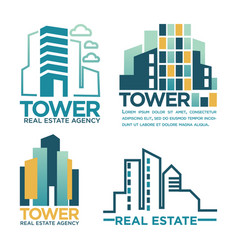 real estate agency or company labels vector image vector image