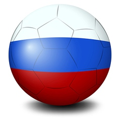 A soccer ball designed with the Russian flag vector image