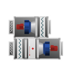 Air handler technical image vector