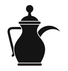 Arabic coffee pot icon simple style vector