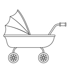 Baby trolley icon outline style vector
