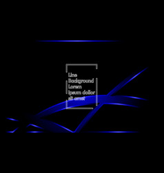 blue ribbon wave on a black background layout vector image