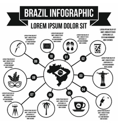 Brazil infographic elements simple style vector image