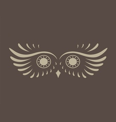 Brown abstract silhouette of owl vector