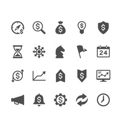 business glyph icons vector image