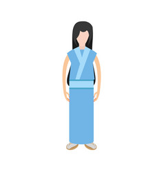 Character japanese woman attire costume vector
