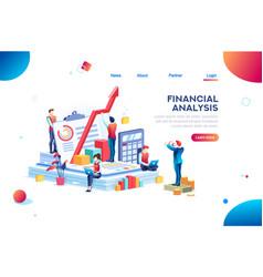Chart financial risk graph vector