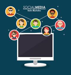Community social media computer system vector