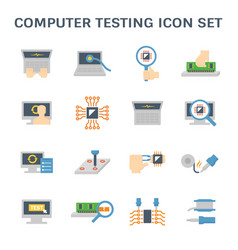 Computer testing icon vector