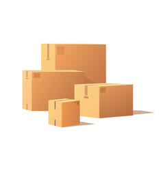 Containers of different size carton storage boxes vector