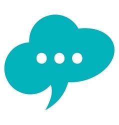 Conversation bubble cloud three dots vector