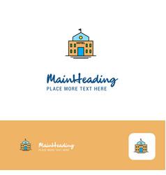 creative hotel logo design flat color logo place vector image