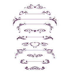 decorative vintage design elements vector image