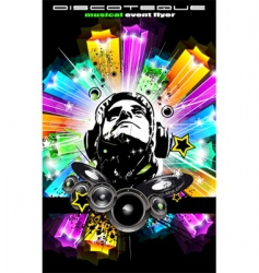 disco flyer for music event vector image