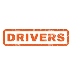 Drivers Rubber Stamp vector
