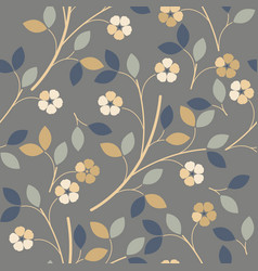 elegant seamless pattern with colorful flowers vector image vector image