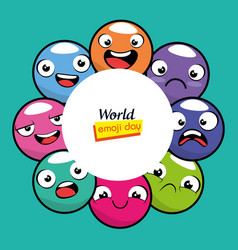 Emoji emoticon character background collection vector