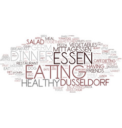 Essen word cloud concept vector