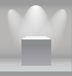 Exhibition concept white empty box stand vector