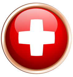 Flag of switzerland on round frame vector