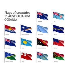Flags countries australia and oceania vector