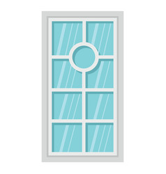Flat architecture window icon isolated on white vector