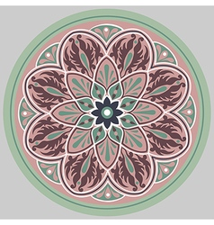 floral ethnic mandala vector image vector image