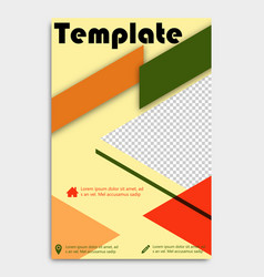 Flyer template design for business brochure vector