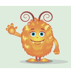 Good red furry monsters 8 vector