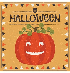 halloween pumpkin decoration vector image
