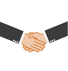 handshake partnership on a white background vector image