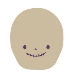 happy halloween celebration smiling skull cartoon vector image