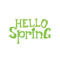 Hello spring lettering vector