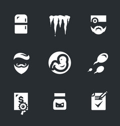 Icons set of reproduction bank vector