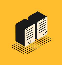 Isometric the commandments icon isolated on yellow vector