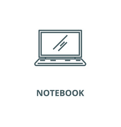 laptopnotebook line icon linear concept vector image