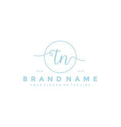 Letter tn feminine logo design vector