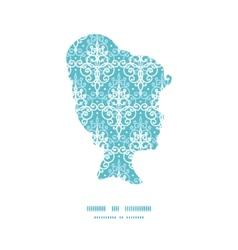 light blue swirls damask girl portrait vector image