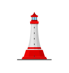 Lighthouse with a wide bottom vector