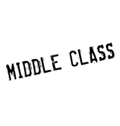 Middle Class rubber stamp vector image