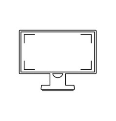 Monitor with a blank and isolated screen vector