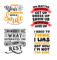 Motivation quote and saying set vector