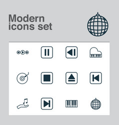 Music icons set collection of music control last vector