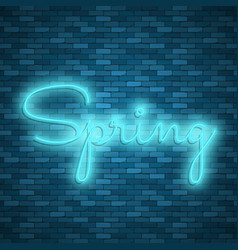 neon banner spring stock poster for vector image