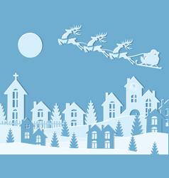 New year christmas an image of santa claus vector