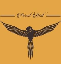 Parrot logo vector image vector image